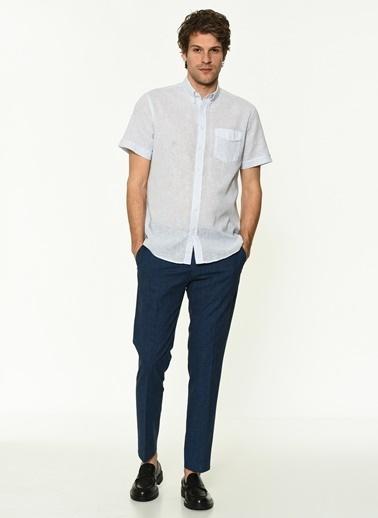 George Hogg 7004974 Erkek Çizgili Gömlek Beyaz